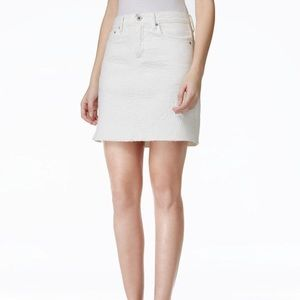 Lucky Brand Quilted Embroidered Denim Mini Skirt